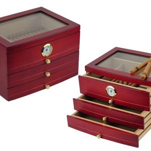 Hộp giữ ẩm Cigar loại 100 điếu 3 ngăn