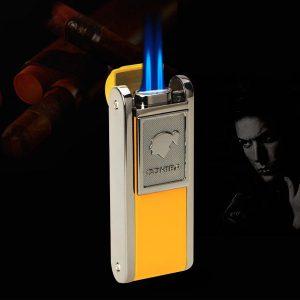 Bật lửa Cohiba chính hãng loại 2 tia lửa có thiết bị đục Cigar