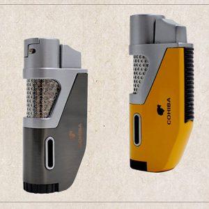 Bật lửa Cohiba chính hãng loại 1 tia lửa khò có vách kính soi gas