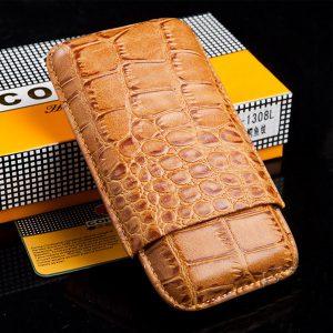 Bao da đựng Cigar (xì gà) Cohiba chính hãng loại 3 điếu