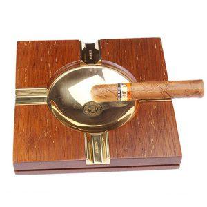 Gạt tàn xì gà (cigar) gỗ 4 điếu chính hãng Lubinski