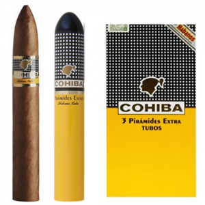 Cigar Cohiba Piramides Extra Tubos hộp 15 điếu