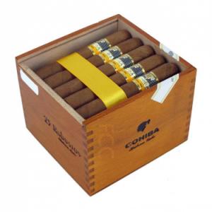 Cigar Cohiba Robustos tubos hộp 25 điếu